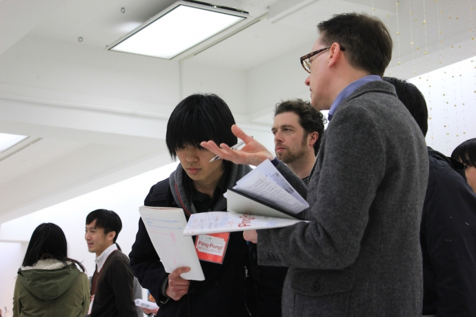 Exhibition review and Group Crit, Tokyo Geidai (2012)