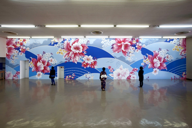 Michael Lin, Beppu 04.11-06.14.09, on the 2nd floor of Kansai Kisen Terminal Pier 3. Image courtesy © Beppu Project NPO