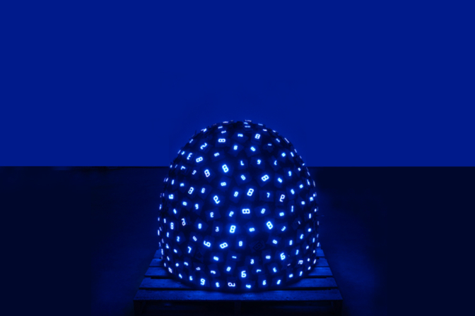 Tatsuo Miyajima, Pile up Life no. 1 - Katrina (2008). © Lisson Gallery & SCAI the BATHHOUSE. Courtesy of the artist
