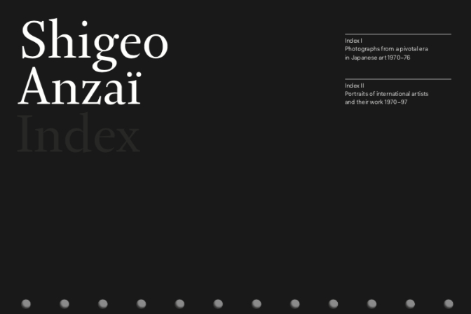 Shigeo Anzai, Index I & II catalogue for exhibition 2016