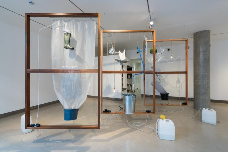 Exhibition view Yuko Mohri: Moré Moré (Leaky), 2016. Image copyright the artist and courtesy White Rainbow Gallery