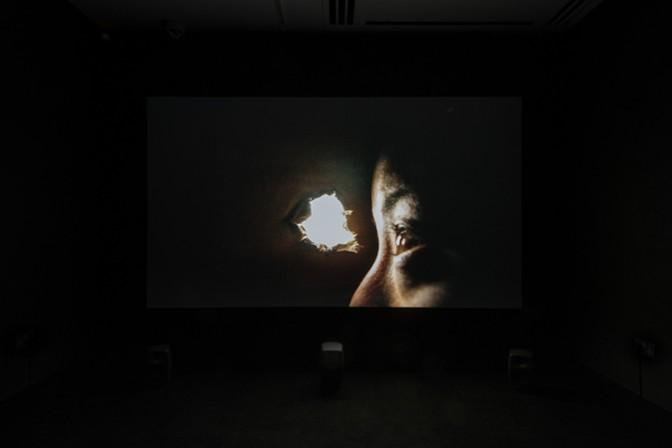 Chikako Yamashiro, Mud Man (2017), Installation view at White Rainbow, London, UK, 2018. In cooperation with Aichi Triennale. © Chikako Yamashiro, Image: Damian Griffiths.