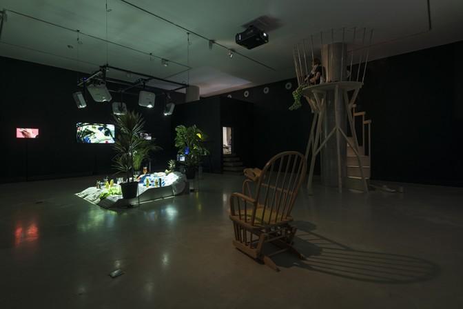 Taro Izumi, 'My eyes are not in the centre', installation view at White Rainbow, London, 2018. ©Taro Izumi. Courtesy White Rainbow, London and Take Ninagawa, Tokyo. Image: Damian Griffiths.